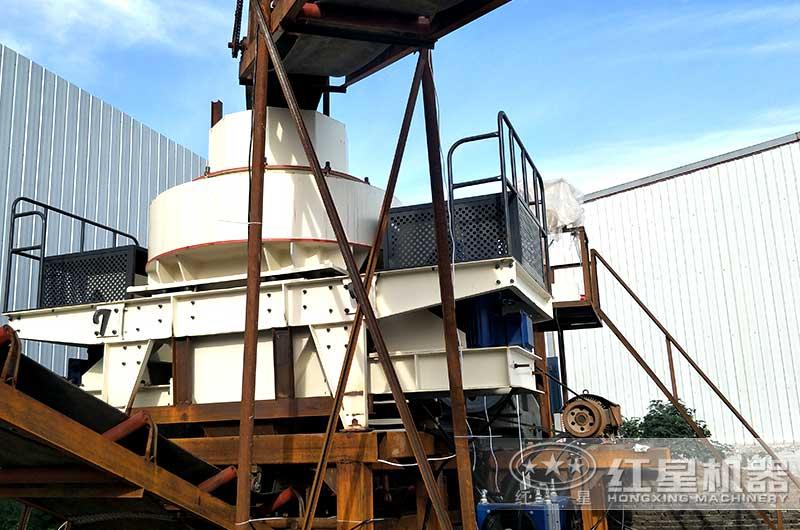 制砂机设备已投产使用,符合环保标准
