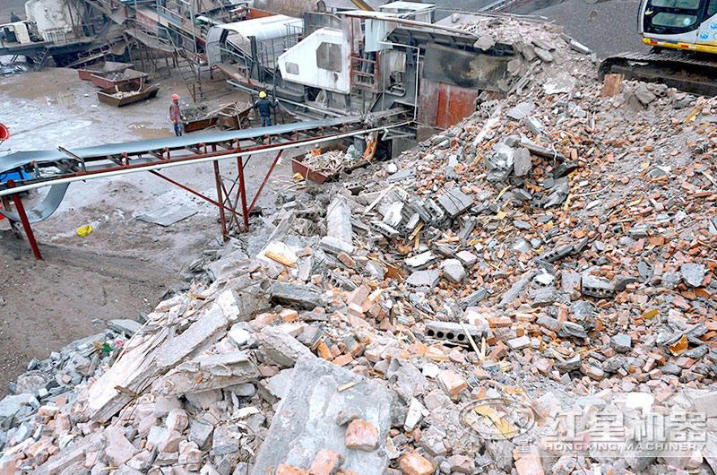 建筑垃圾处理现场