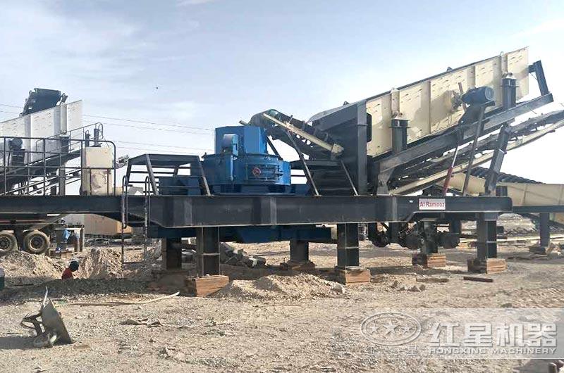 全自动移动制砂机生产现场