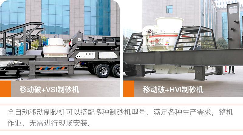 全自动移动制砂机多种搭配方式