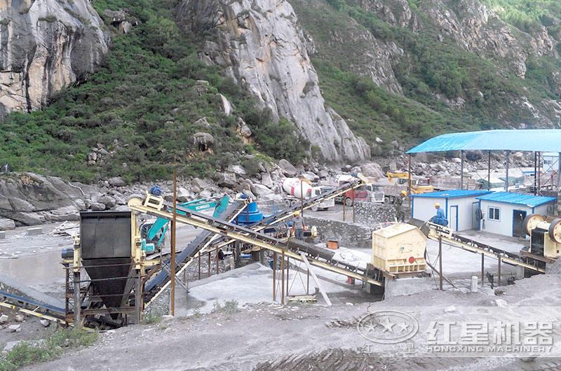 石料加工生产现场