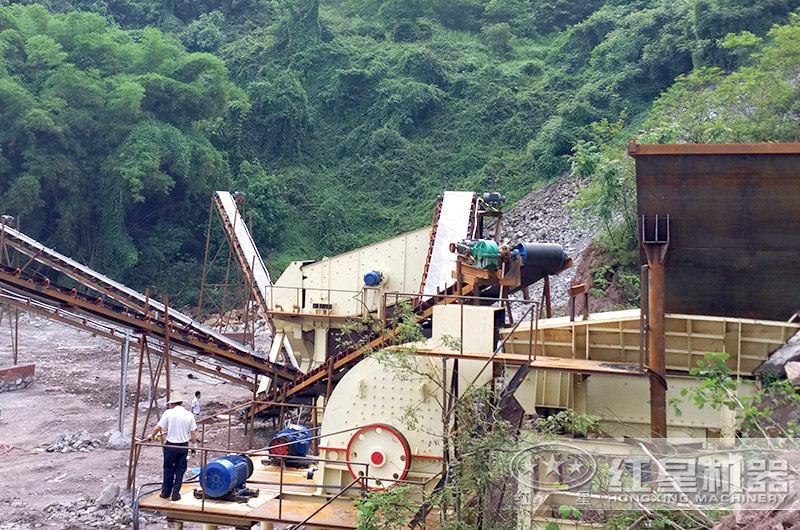 锤式打砂机生产现场