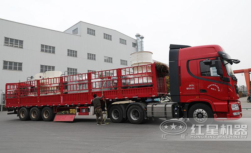时产100吨石料破碎生产线发货了发货了(冲击式制砂机、单缸圆锥破)