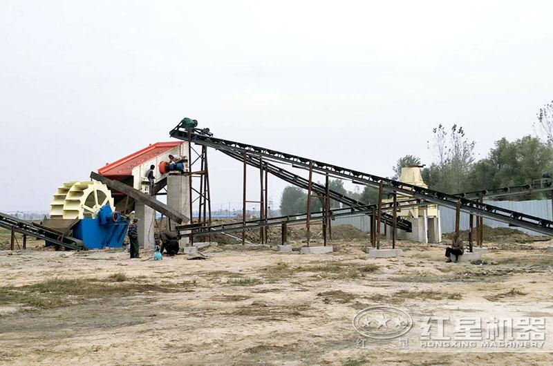 砂石生产线:制砂机+洗砂机