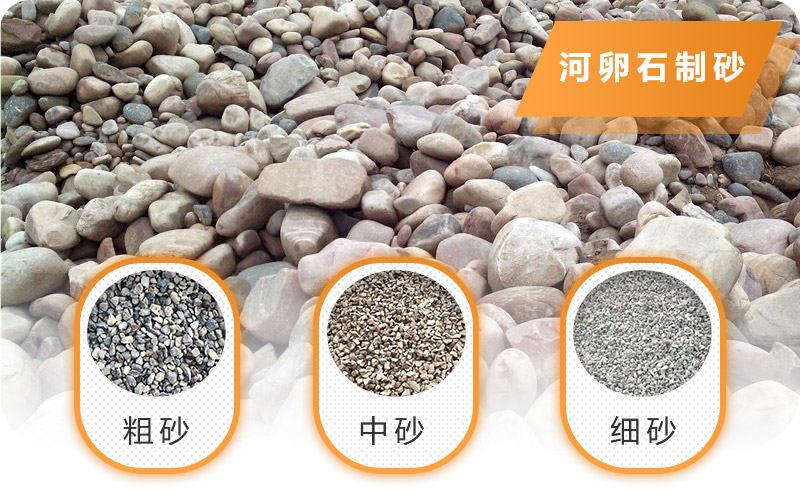 河卵石可以制成不同规格的砂石