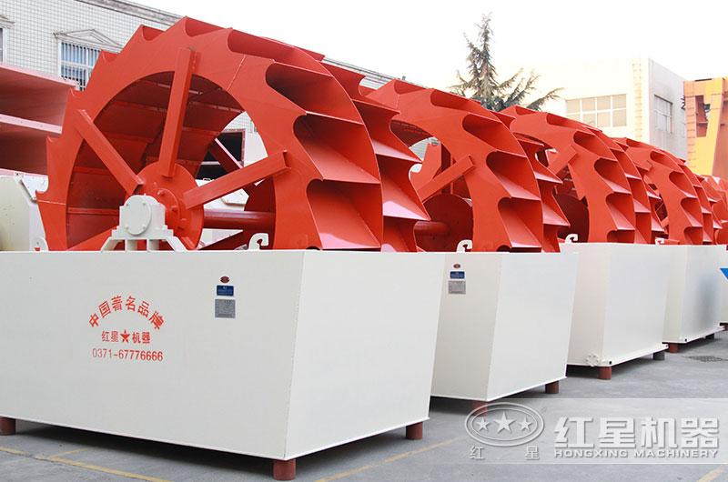 中小型砂石厂更多用轮斗式洗砂机
