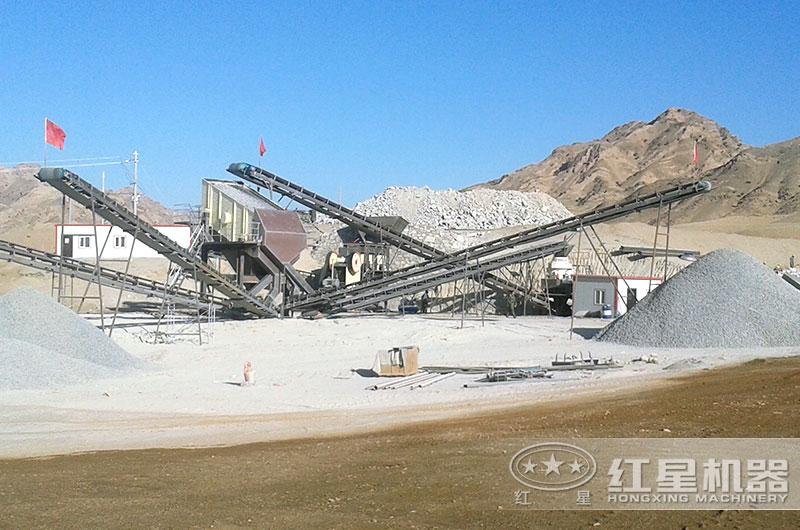 机制砂生产现场