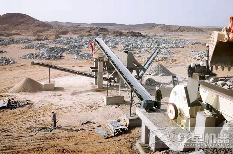 诏安县碎石生产现场