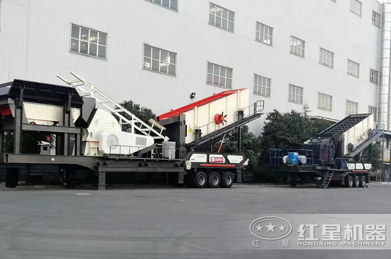 车载式移动破碎机厂区实拍大图