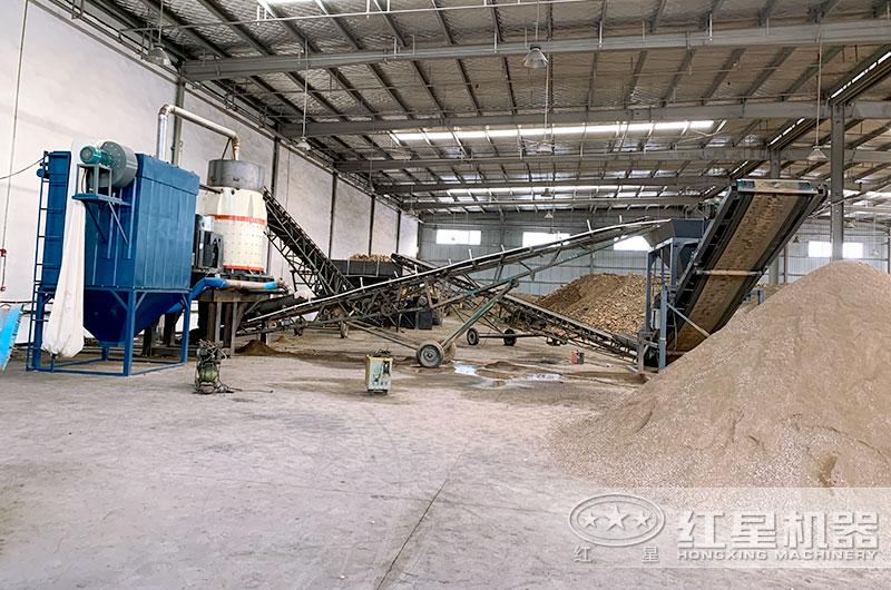 时产5吨制砂机生产现场