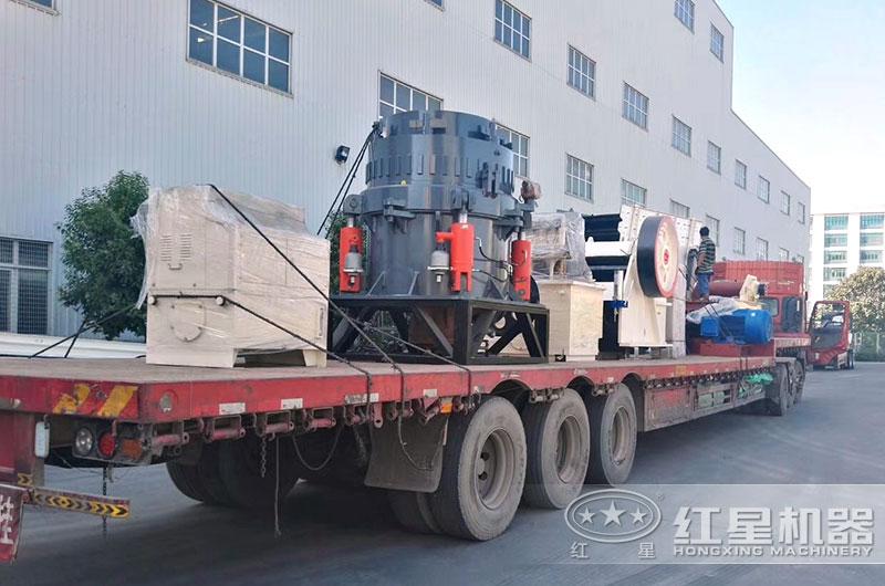石子厂生产线设备发货现场图