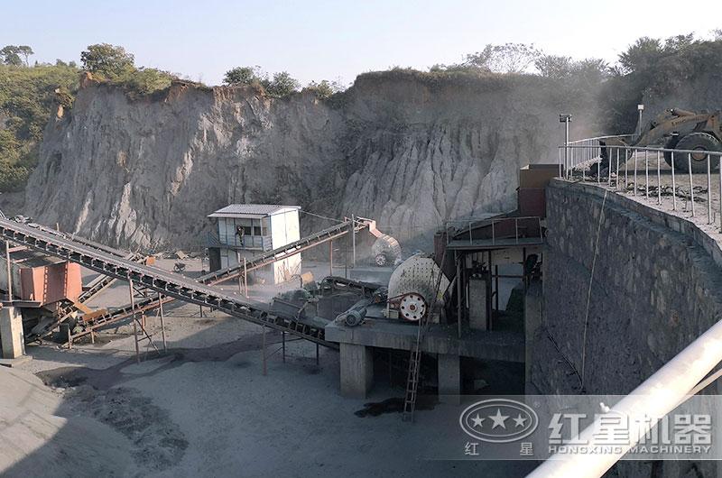 煤矸石碎石生产线,锤式破碎机,简化工艺流程
