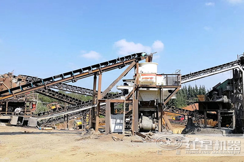日产量3000吨制沙机生产现场